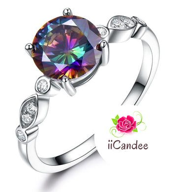 Buy Mystic Topaz Engagement Ring 925 Sterling Silver | iicandee