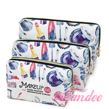 Load image into Gallery viewer,  Shop for Cute cosmetic bags, Red Lipstick Makeup Cosmetic Bags 3 piece • Cosmetic Travel bags at iicandee.com