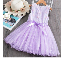Load image into Gallery viewer, Girls Baby Toddler Princess Party tutu Tulle Lavender Dress • Special Occasion Party Dress - iiCandee