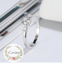Load image into Gallery viewer, Round Cut Solitaire Engagement Ring Sterling Silver