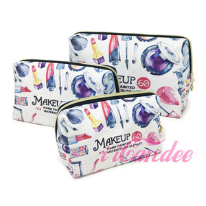 Shop for Cute cosmetic bags, Red Lipstick Makeup Cosmetic Bags 3 piece • Cosmetic Travel bags at iicandee.com