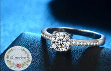 Load image into Gallery viewer, Shop for an engagement ring, engagement ring rose gold, engagement ring vintage, engagement ring diamond, engagement rings for women, engagement ring princess cut, engagement ring moissanite,  custom engraved rings cheap, engraved rings for her, personalized wedding bands, engagement rings cheap, silver ring with name, silver couple rings with names engraved, silver name ring on sale at iicandee