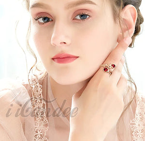 Shop for Crystal Rose Gold Adjustable Rings • Beautiful Jewelry Gift. Red Roses are the symbol of romance and love. Metals Type: 18k Gold Plated Material: Sale $21.99 for a limited time at iicandee.com