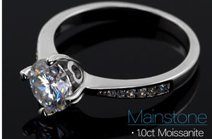Buy Moissanite Engagement Rings for sale Free Shipping - Moissanite bridal set, halo moissanite ring, classic halo ring, wedding ring set, 925 sterling silver, white gold, moissanite band Sale | iiCandee