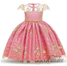 Load image into Gallery viewer, Rose Pink Flower Princess Dress Gown
