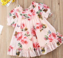 Load image into Gallery viewer, Baby Girl infant Pink Floral Summer Dress - iiCandee