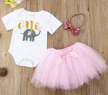 Load image into Gallery viewer, Baby Girl 1st Birthday Elephant Tutu Skirt Dress • Summer Outfits - iiCandee