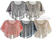 Load image into Gallery viewer, 1920s Shawl Wrap Art Deco Sequin Beaded Evening Capelet Flapper Cover Up - iiCandee