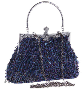 1920s Gatsby Beaded Sequin Roaring 20s Vintage Design Evening Purse - iiCandee