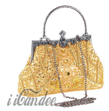 Load image into Gallery viewer, 1920s Gatsby Beaded Sequin Roaring 20s Vintage Design Evening Purse - iiCandee