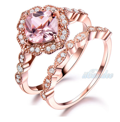 Buy Rose Gold Women's Engagement Wedding Band Rings on Sale at iiCandee.com