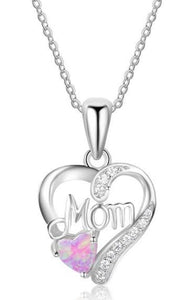 Buy Women's Sterling Silver Love Mom Opal Necklace| mystic fire topaz pendant necklace |Titanium Stainless Steel Her King His Queen Band Ring Promise Ring - to Heart Pendant Necklace & Earrings Set - Stars to Hearts Hoop Earrings - Angel wings stud earrings - We Have It all at reasonable and affordable prices | iiCandee.com