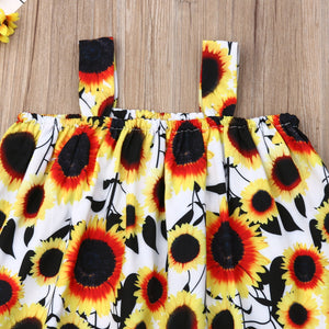 Toddler Baby Girl Sunflower top & Shorts Outfit • Summer Clothes