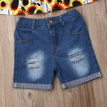 Load image into Gallery viewer, Toddler Baby Girl Sunflower top & Shorts Outfit • Summer Clothes