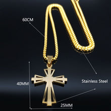 Load image into Gallery viewer, Buy Stainless Steel Cross Pendant Necklace Gold Color | iicandee