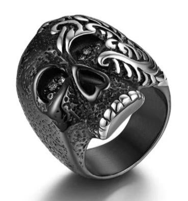 Shop Silver Punk Skeleton Ring on Sale at iicandee.com