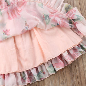 Baby Girl infant Pink Floral Summer Dress - iiCandee