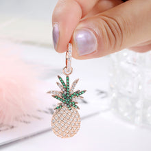 Load image into Gallery viewer, Shop Pineapple Cubic Zirconia Dangle Drop Earrings on sale at iicandee.com