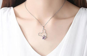 Cubic zirconia Mouse Necklace and earrings sets Jewelry Gift Sets - iiCandee