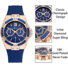 Load image into Gallery viewer, Rose Gold Quartz Ladies Watch Embellished with Crystals