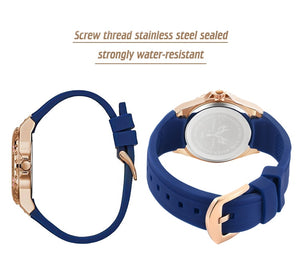 Rose Gold Quartz Ladies Watch Embellished with Crystals