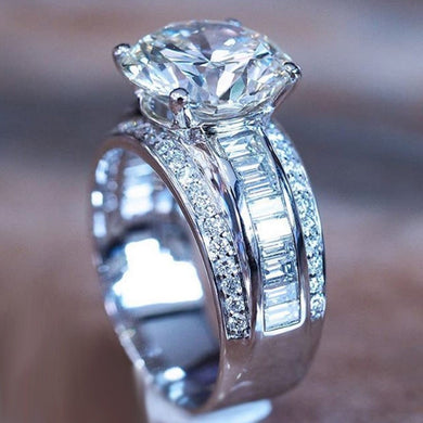 Luxury Silver Plated Engagement Ring