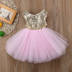 Baby Toddler Girls Sequin Party tutu Dress • Wedding  Party Dress - iiCandee