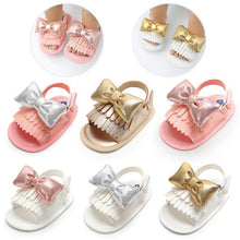 Load image into Gallery viewer, Newborn infant Baby Girl Summer Tassel Sandals - iiCandee