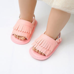 Newborn infant Baby Girl Summer Tassel Sandals - iiCandee