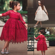 Load image into Gallery viewer, Kids Toddler Girls Floral Layered Lace Party Dress • Wedding Flower Girl Dress - iiCandee