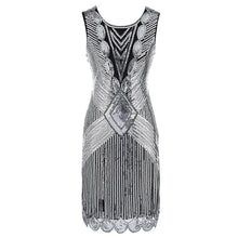 Load image into Gallery viewer, 1920s Great Gatsby Fringed Sequin Flapper Dress and accessories - iiCandee