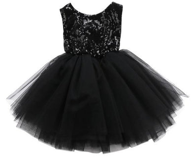 Girls Black Sequin Party tutu Dress • Special Occasion Party Dress