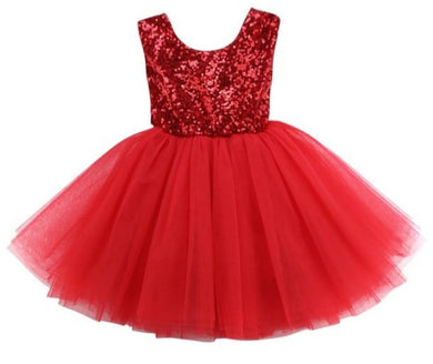 Girls Red Sequin Party tutu Dress • Special Occasion Party Dress
