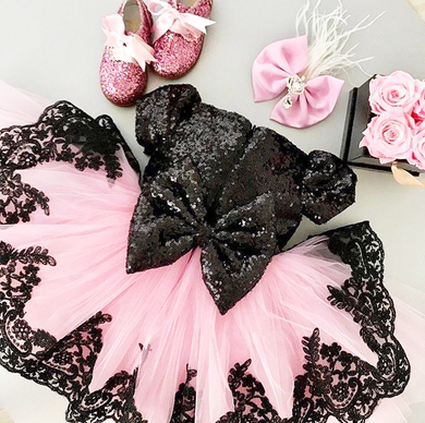 Baby Girls Lace Tutu Tulle Party Dress - Special Occasion Dress Sale - iicandee