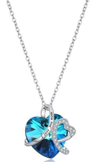 I Love you Mom Necklace Sterling Silver Sale - iicandee