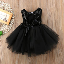 Load image into Gallery viewer, Girls Black Sequin Party tutu Dress • Special Occasion Party Dress