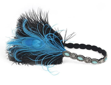 1920s Feather Flapper Headband - Great Gatsby Headpiece