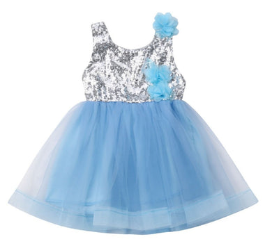 Girls Blue Sequin Party tutu Dress • Special Occasion Party Dress