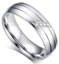 Load image into Gallery viewer, iicandee Silver Tone Titanium Steel Women's Wedding Band sale