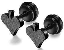 Load image into Gallery viewer, Stainless Steel Black Heart Stud Earrings , Stainless Steel Cross Pendant Chain Necklace,mens cross necklace stainless steel,stainless steel cross necklace amazon,stainless steel cross necklace womens,mens cross necklace amazon,unique mens cross necklace,mens cross pendant,stainless steel cross necklace ebay,large stainless steel cross,military dog tags,army dog tags regulation-iiCandee.com