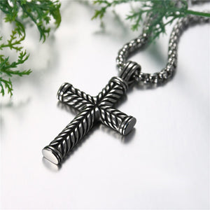 Buy Stainless Steel Cross Pendant Chain Necklace for Men Women on sale at iiCandee.com