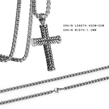 Load image into Gallery viewer, Buy Stainless Steel Cross Pendant Chain Necklace for Men Women on sale at iiCandee.com