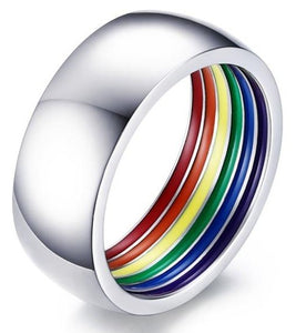 Stainless Steel Rainbow Ring - Wedding Band | iicandee