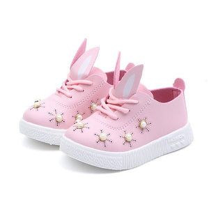 Baby Girls Toddler Bunny ears Anti-slip Shoes - iiCandee