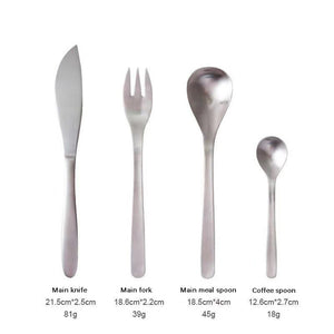 4PCS  Japanese Matte Stainless Steel Cutlery Set