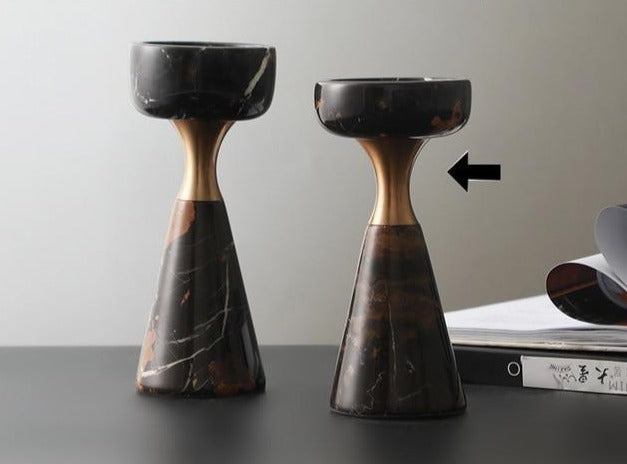 Metal Marble Candle Holders