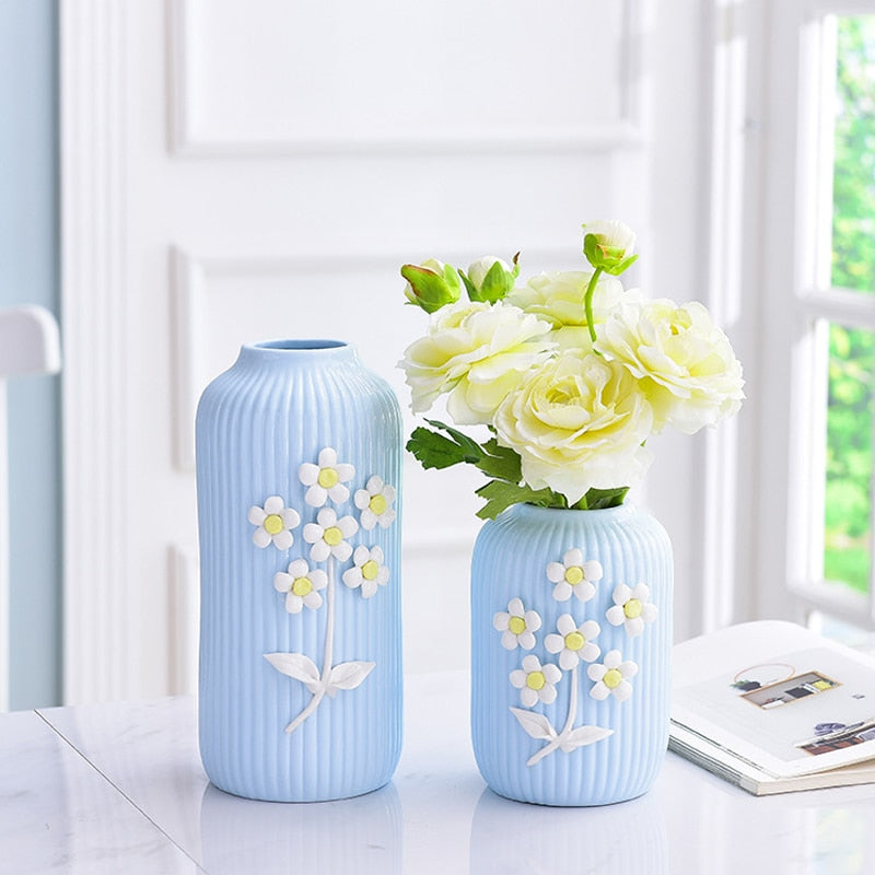Handcrafted Flower Porcelain Vases