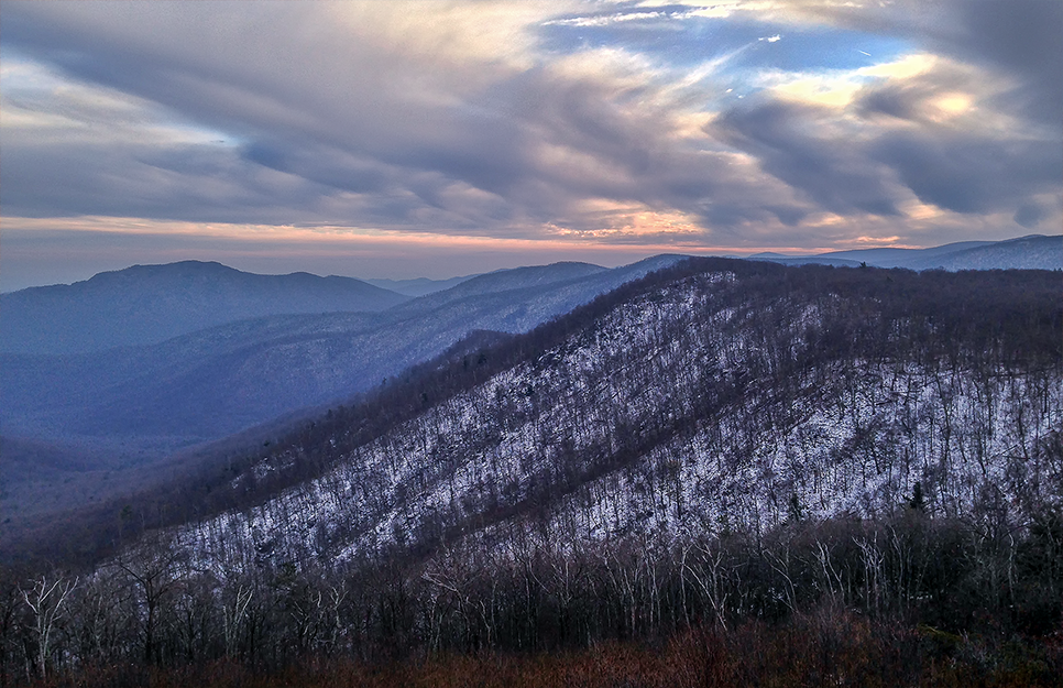 First snow, Shenandoah National Park