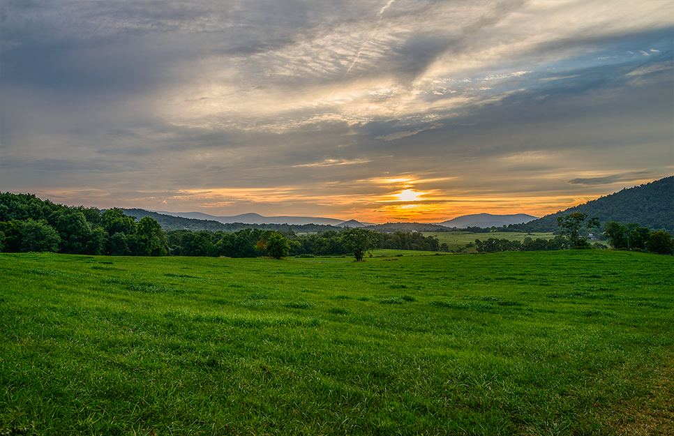 Piedmont: sunset #1