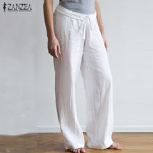 Load image into Gallery viewer, ZANZEA Casual Wide Leg Vintage Linen Pants